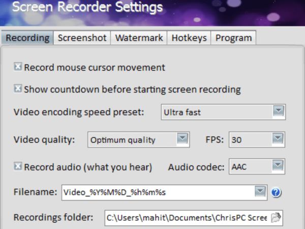 Chrispc Screen Recorder Pro Activator & Patch Full Free Download