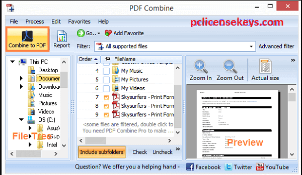Combin 2.7.4.2420 with serial key